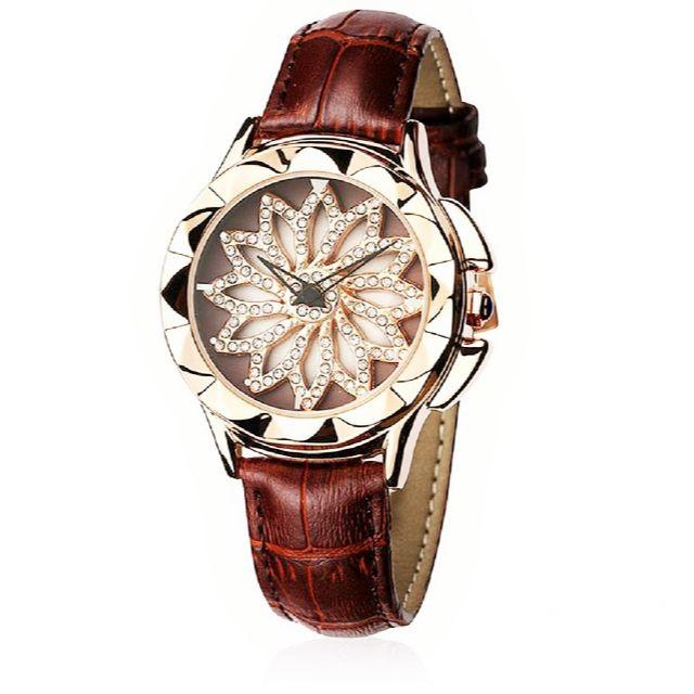 ぐるぐる時計 グルグル 文字盤が回る ラグジュアリー レザー 腕時計 茶の通販 by gra i's shop9/4-11発送お休みとなります。|ラクマ