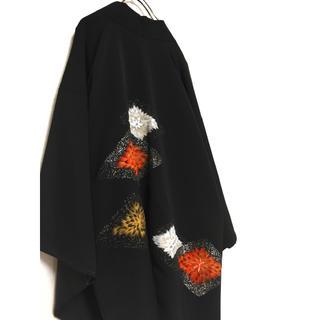 Yohji Yamamoto - vitage HAORI 和モード モダンスタイル 羽織 刺繍 着物  マント
