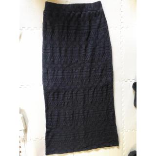 デュラス(DURAS)のduras 鍵編みタイトスカート(ロングスカート)