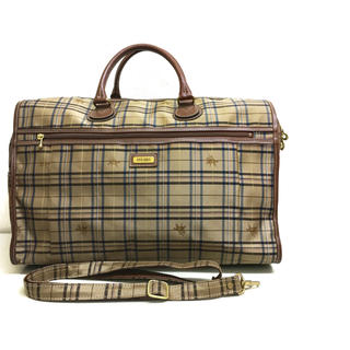 BURBERRY - EXCEL DOLICE ノバチェック ボストンバッグ