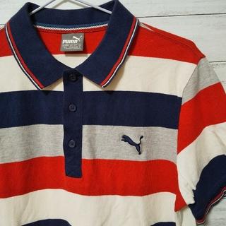 プーマ(PUMA)のPUMA プーマ ポロシャツ マルチボーダー(ポロシャツ)