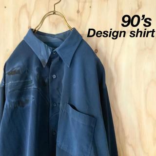 【極美品】希少 90s  総柄  和モード 花柄 デザインシャツ(シャツ)