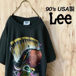 リー(Lee)の【美品 希少】90's USA LEE ビッグシルエット 96年 NFCC t(Tシャツ/カットソー(半袖/袖なし))