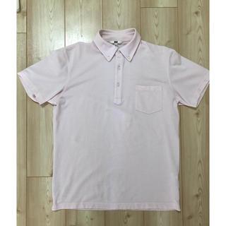ユニクロ(UNIQLO)のユニクロ ☆ボタンダウンポロシャツ☆サイズL☆ピンク(ポロシャツ)