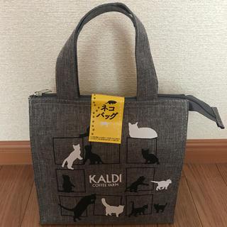 カルディ(KALDI)のKALDI/ねこの日トートバック/8月末迄期間限定お値段‼️(トートバッグ)