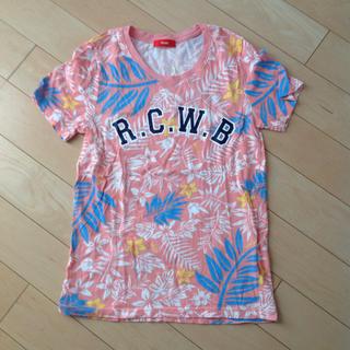 ロデオクラウンズワイドボウル(RODEO CROWNS WIDE BOWL)のロデオクラウンズ ボタニカル柄 プリントTシャツ(Tシャツ(半袖/袖なし))