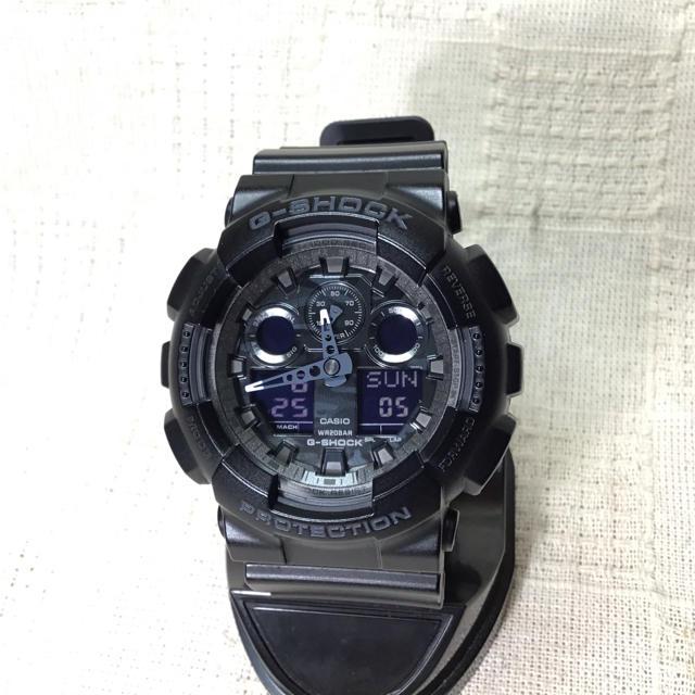G-SHOCK - 【迷彩グレーモデル G–SHOCK】カシオ Gショック 腕時計 GA100CFの通販 by Takezo  shop|ジーショックならラクマ