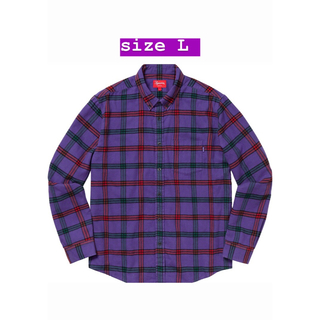 Supreme - 19aw Suprme Tartan Flannel Shirt Purple