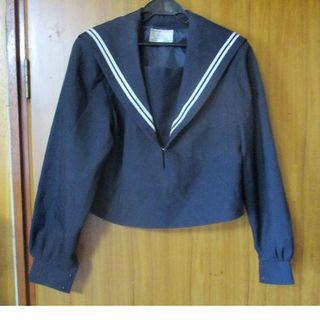 KANKO セーラー服 白二本線 上衣