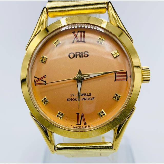 ORIS - 美品 アンティーク ORIS  スイス製 ヴィンテージ 腕時計 ゴールド ピンクの通販 by YOTANA's shop|オリスならラクマ