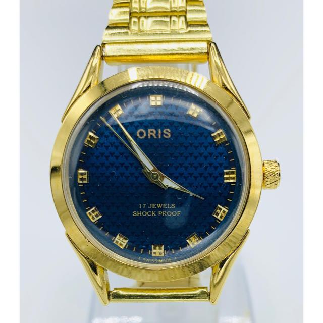 prada ミラノ バッグ / ORIS - 美品 アンティーク ORIS  ヴィンテージ 腕時計 ゴールド&ブルー の通販 by YOTANA's shop|オリスならラクマ