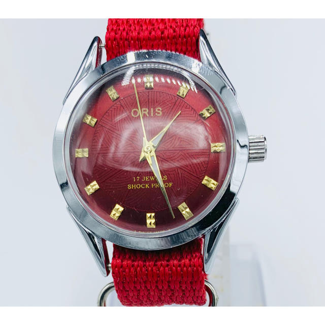 ORIS - 入手困難 美品アンティーク ORIS  ヴィンテージ 腕時計 シルバー レッドの通販 by YOTANA's shop|オリスならラクマ