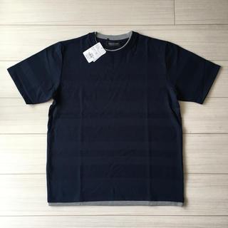 nano・universe - 【新品タグ付き】ランダムボーダーフェイクレイヤードTシャツ