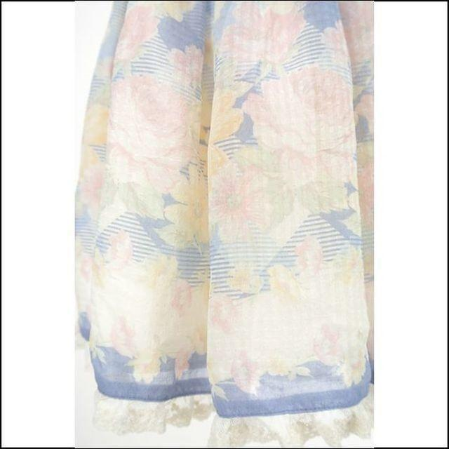 LIZ LISA(リズリサ)のLIZ LISA☆美品♪グログランリボン&裾レース*シアー花柄フレアスカパン レディースのパンツ(キュロット)の商品写真