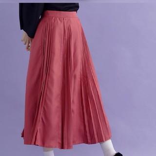 merlot - メルロー☆ビンクのプリーツロングスカート