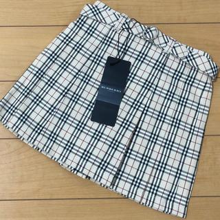 BURBERRY - 【新品】バーバリー 100cm チェックプリーツスカート