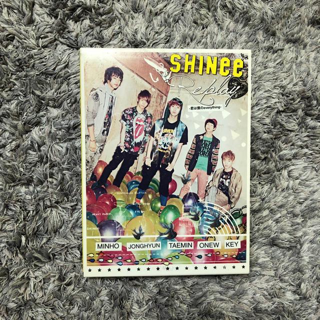 SHINee(シャイニー)の【テミン カード付】SHINee Replay フォトブック&CD&DVD  エンタメ/ホビーのCD(K-POP/アジア)の商品写真