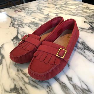 アグ(UGG)のUGG  レザーモカシン サイズ24.5(ローファー/革靴)
