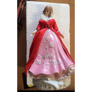 バービー(Barbie)のバービー   オルゴール 陶器 限定品(ぬいぐるみ/人形)