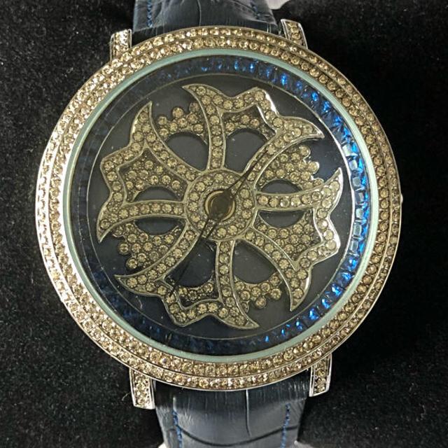 フランクミュラー 息子 時計 - ブルッキアーナ スピンウオッチ ジルコニアストーン ネイビーの通販 by ケセラセラ|ラクマ