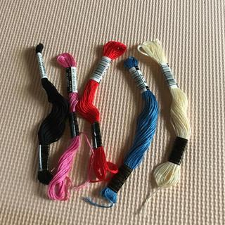 オリンパス(OLYMPUS)の刺繍糸 5色(生地/糸)