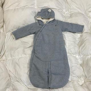babyGAP - 美品 baby Gap クマ耳 あったかカバーオール  80