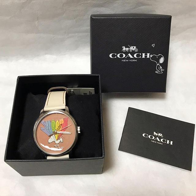 COACH - COACH × Peanuts スヌーピー ハート 限定コラボ 腕時計 ♡の通販 by Ronchi's shop|コーチならラクマ
