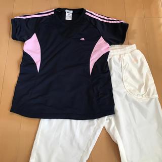アディダス(adidas)のアディダスTシャツ&白パンツL(ウェア)