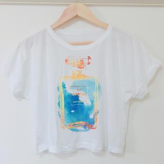 CHANEL - シャネル ノベルティ パフューム ショート丈 半袖Tシャツ サラサラ No5