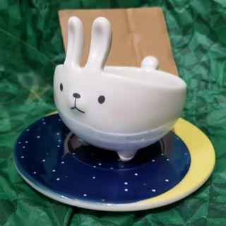Starbucks Coffee - スタバ 8月新品 可愛い 白 月兎  マグカップ コースターセット 台湾限定