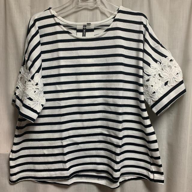 しまむら(シマムラ)のボーダーTシャツ レディースのトップス(Tシャツ(半袖/袖なし))の商品写真