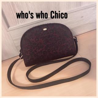 who's who Chico - who's who Chico♡レオパード かまぼこ型ショルダーBAG