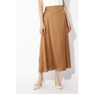 フレイアイディー(FRAY I.D)の新品タグ付き   NATURAL BEAUTY BASIC サテンスカート(ロングスカート)