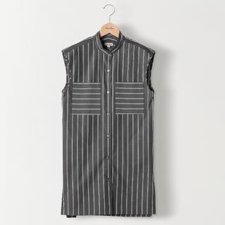 スティーブンアラン(steven alan)の美品♡steavenalan♡ストライプノースリーブシャツ(シャツ/ブラウス(半袖/袖なし))
