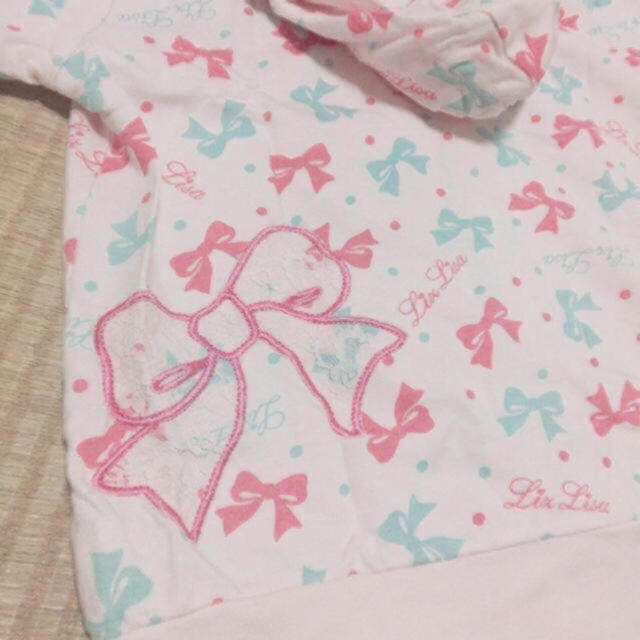 LIZ LISA(リズリサ)のLIZ LISA*リボン柄パーカー レディースのトップス(パーカー)の商品写真