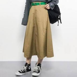 niko and... - ベルト付きベイカーフレアスカート
