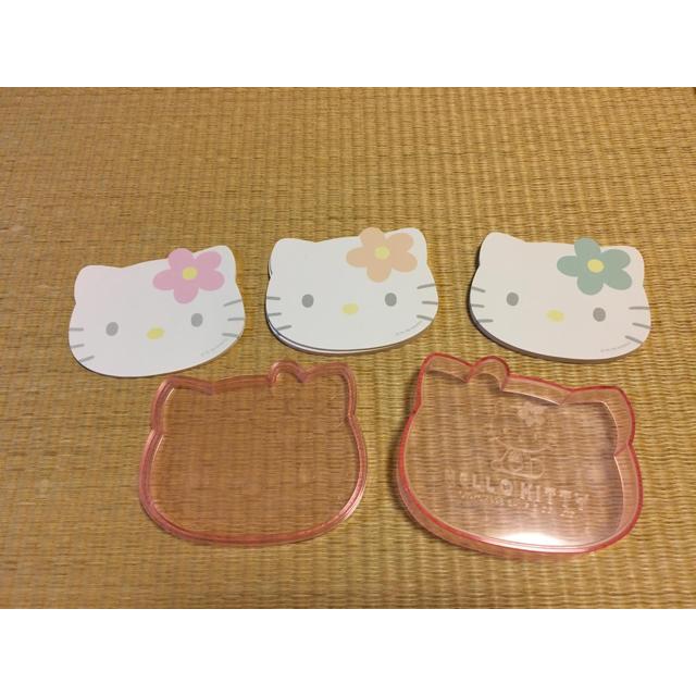 ハローキティ(ハローキティ)のキティちゃん メモ帳 エンタメ/ホビーのおもちゃ/ぬいぐるみ(キャラクターグッズ)の商品写真