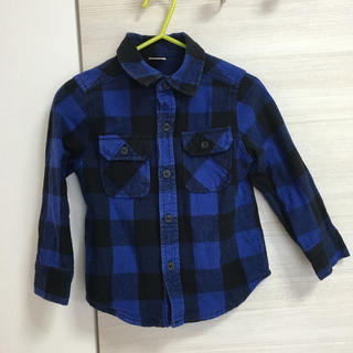 プティマイン(petit main)のキッズ ネルシャツ 長袖 100センチ(その他)