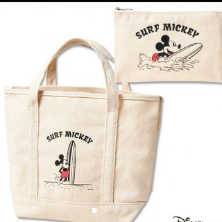 Disney - mini 【付録】 Inshore サーフミッキー トート&ポーチ