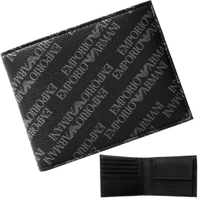 Emporio Armani - 【新品】 アルマーニ 二つ折り財布 PVCコーティングキャンバス フェイクレザーの通販 by papi's shop|エンポリオアルマーニならラクマ