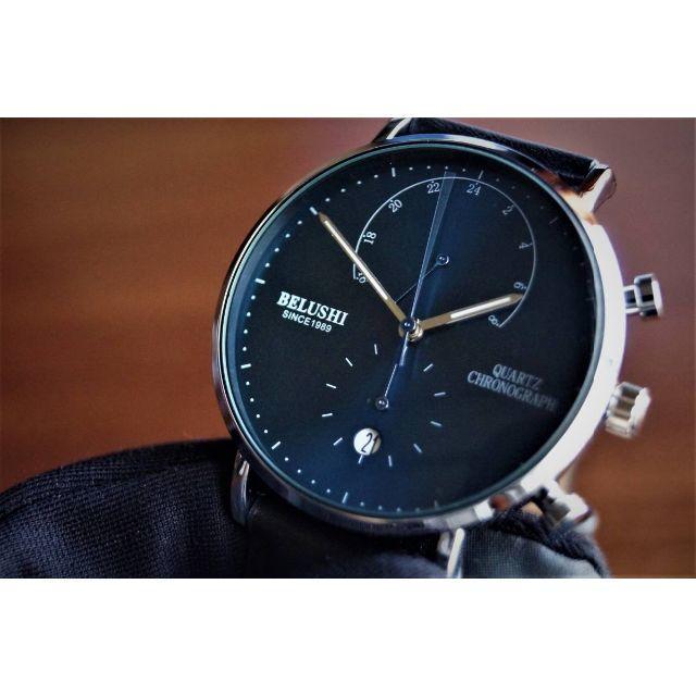 エルメス バッグ ファー | 新品 腕時計 濃青 お洒落 アナログ24時間表示 防水 クロノグラフ 本革の通販 by コメントする時はプロフ必読お願いします|ラクマ
