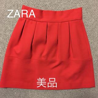 ザラ(ZARA)の美品 ZARA スカート ミニ 赤 朱色 レディース (ミニスカート)