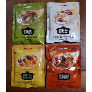 カゴメ(KAGOME)のカゴメ 野菜と豆の具だくさん スープ セット(インスタント食品)