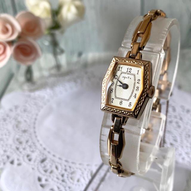 agete - 【電池交換済み】agete アガット 腕時計 ピンクゴールド アンティーク調の通販 by soga's shop|アガットならラクマ