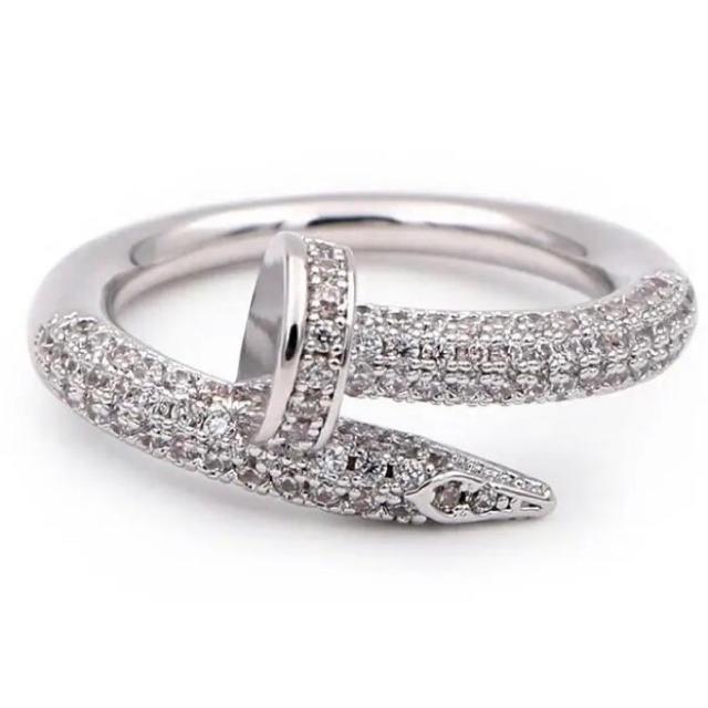 釘リング silver plating cz diamond ring メンズのアクセサリー(リング(指輪))の商品写真