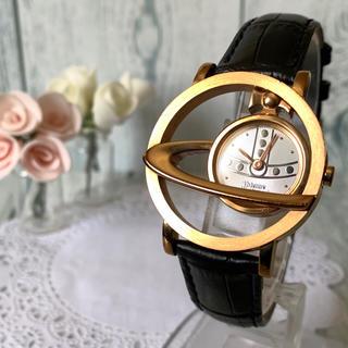 Vivienne Westwood - 【電池交換済み】 ヴィヴィアン サークルオーブ ゴールド 腕時計