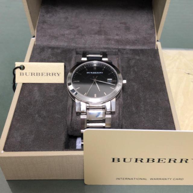 BURBERRY - 【美品・稼働品】BURBERRYバーバリー メンズ BU9001 デイトクオーツの通販 by Me|バーバリーならラクマ