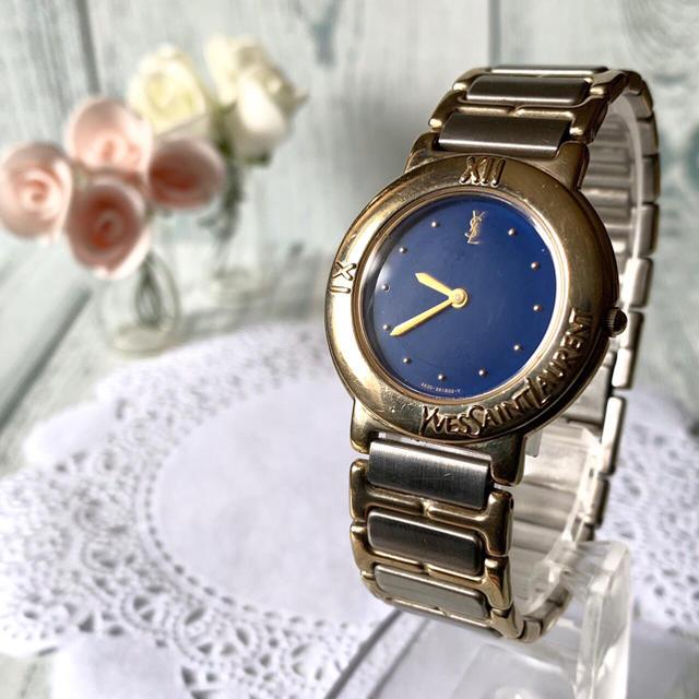 Saint Laurent - 【動作OK】Yves Saint Laurent  腕時計 ブルー メンズの通販 by soga's shop|サンローランならラクマ
