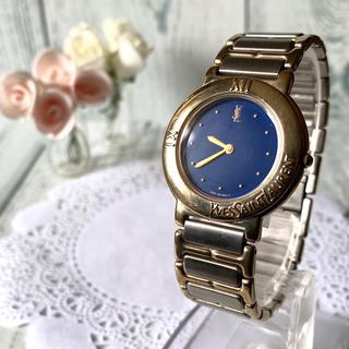 サンローラン(Saint Laurent)の【動作OK】Yves Saint Laurent  腕時計 ブルー メンズ(腕時計(アナログ))