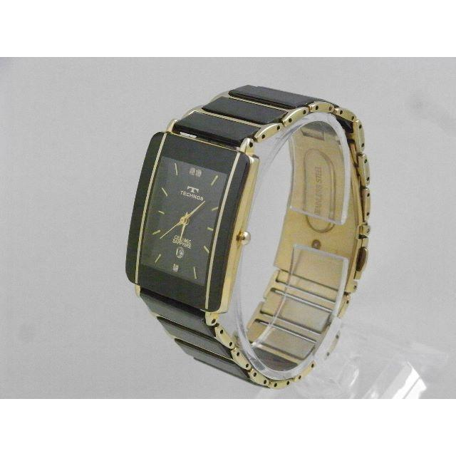 TECHNOS - TECHNOS セラミック サファイア 腕時計 デイト ブラックの通販 by Arouse 's shop|テクノスならラクマ